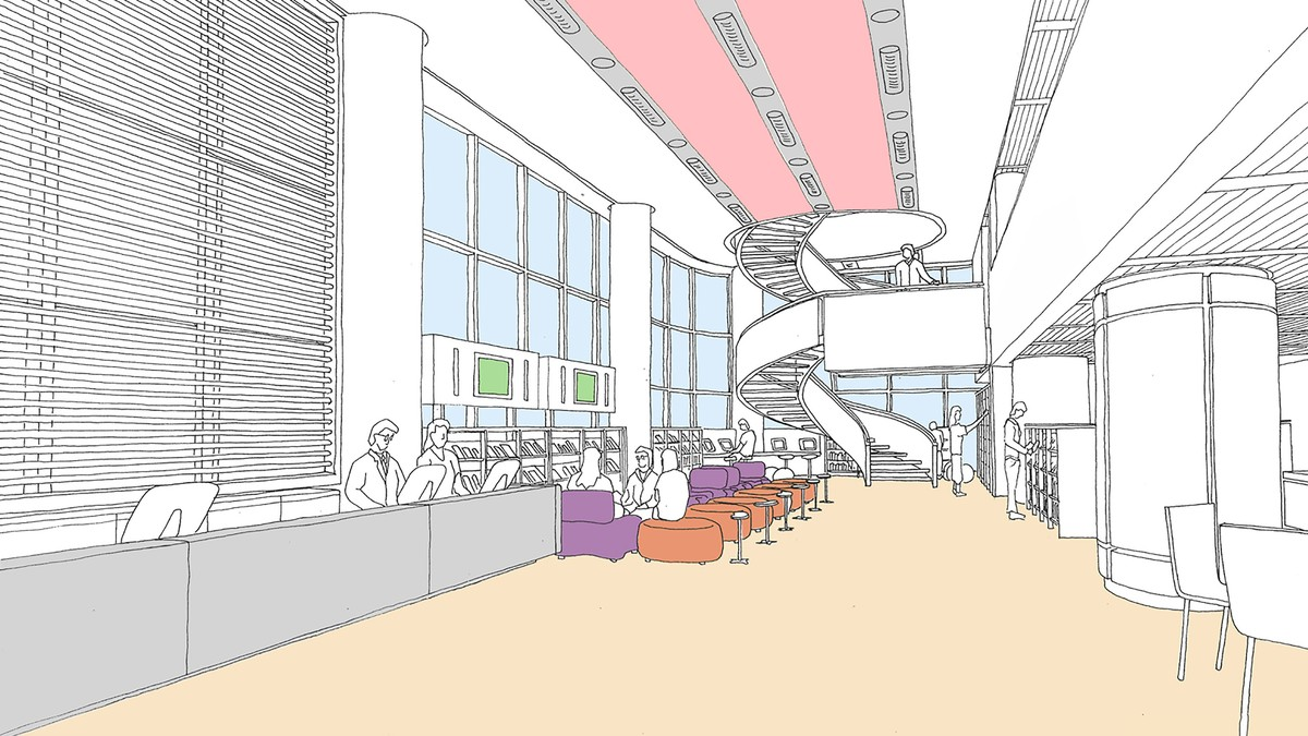Concept view for the main public area