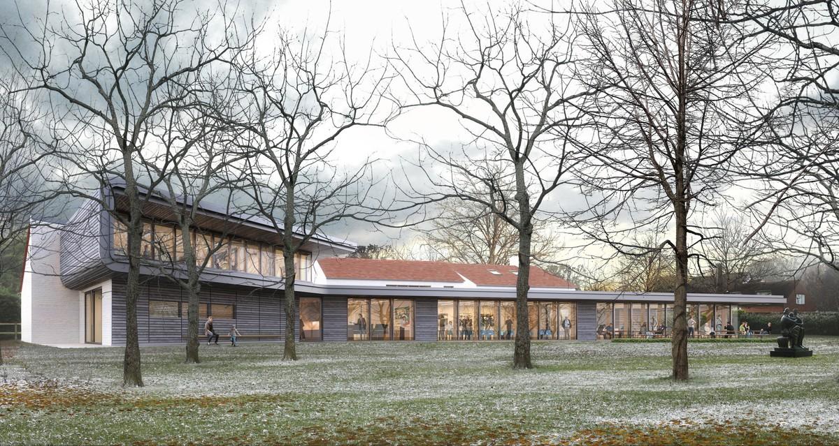 CGI visual of the new visitors centre