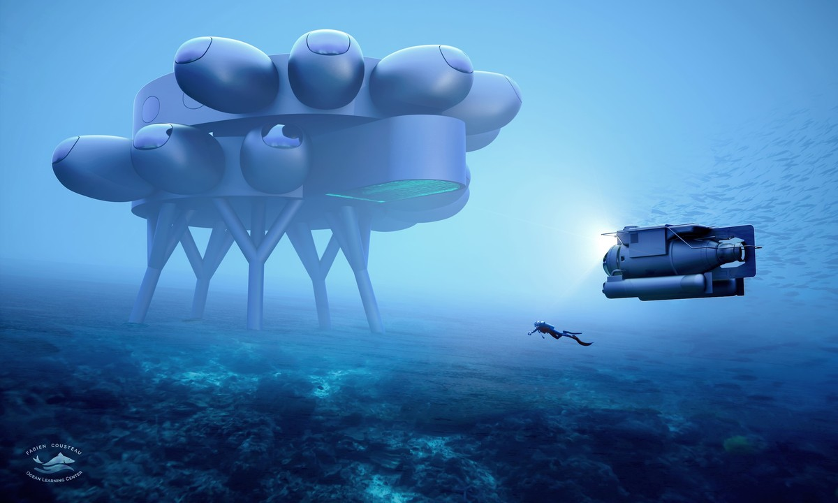 The Proteus underwater laboratory, being constructed by Fabien Cousteau, grandson of Jaques, also provides a vision of how colonisation of space might look YVES BEHAR/FUSEPROJECT