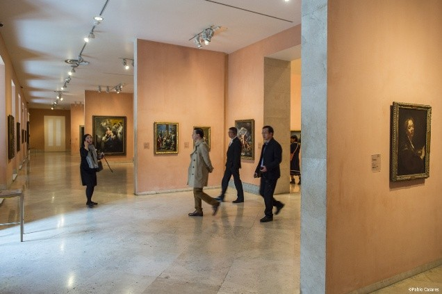 Exhibition galleries at the Thyssen-Bornemisza Museum in Madrid