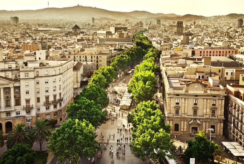 La Rambla Boulevard in Barcelona