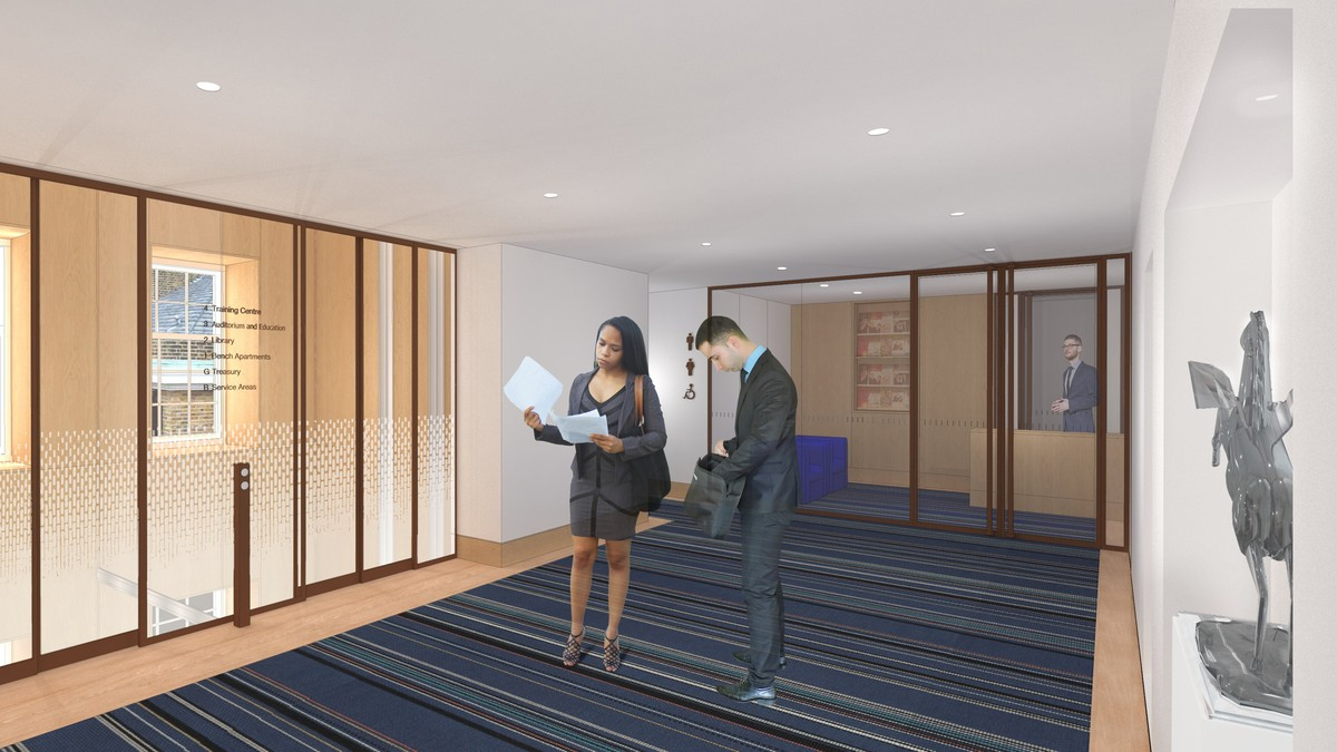 CGI of the third floor lift lobby