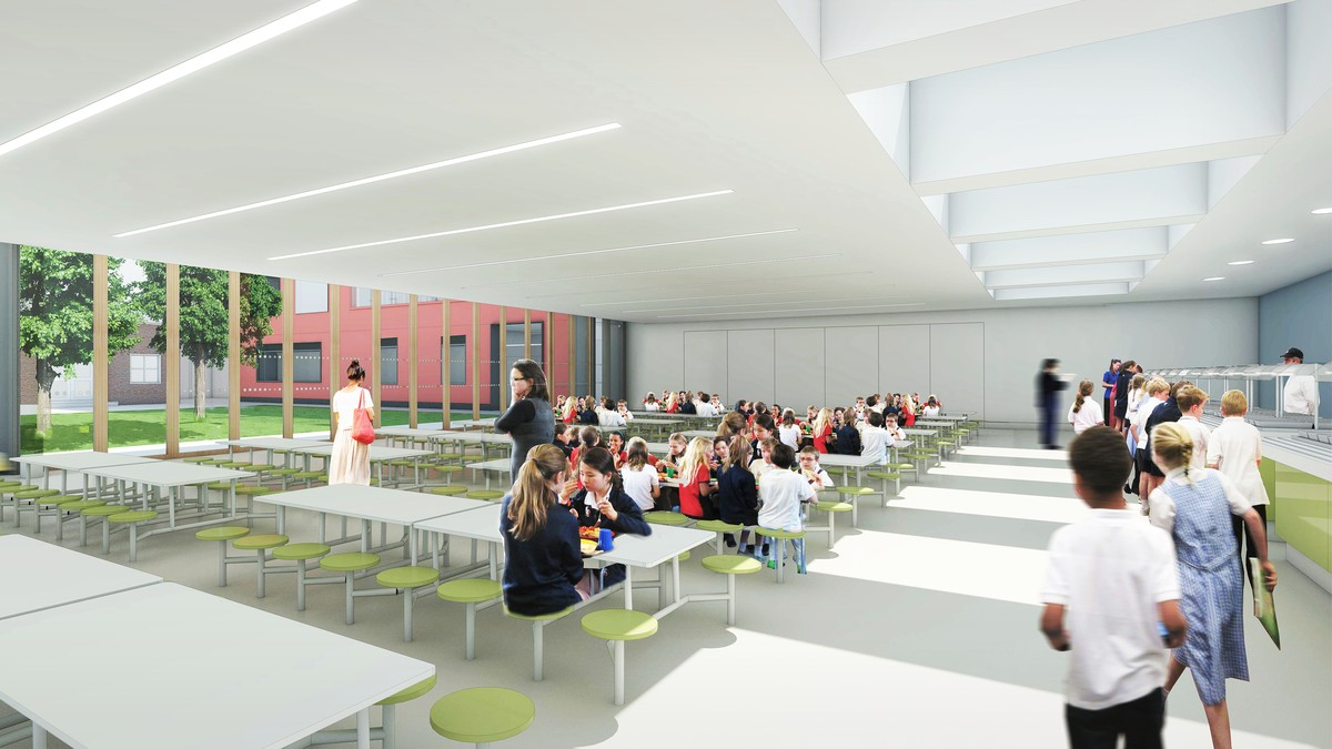 CGI view of the proposed dining hall